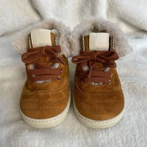 Suede Fur Trim Toddler Gucci Boots